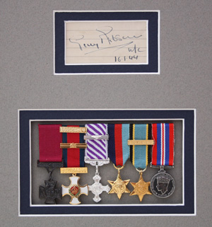 Signature and medals
