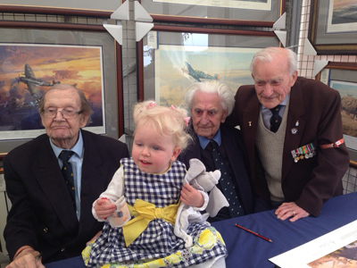 Duxford 2015 the veterans with Annabelle