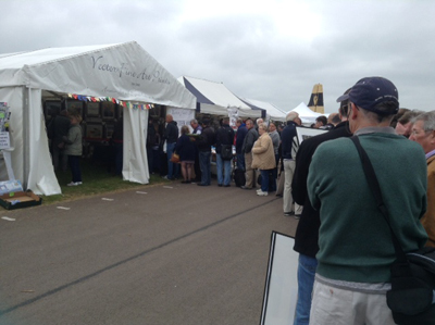 Duxford 2015 the queue for signing!