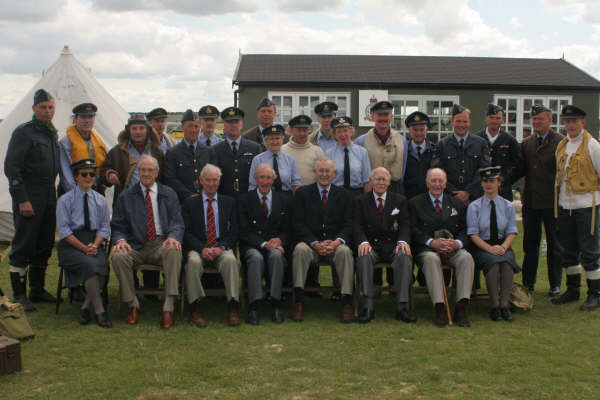 617 Squadron veterans with RAF re-enactors