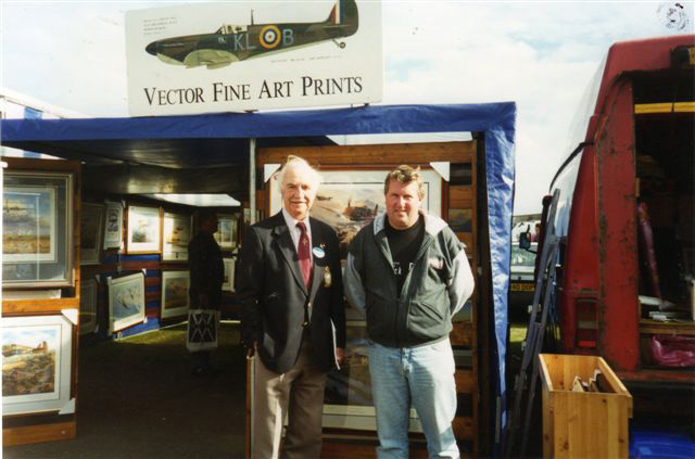 Colin with Bill Reid VC