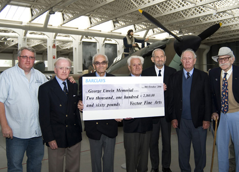 Cheque presentation at IWM Duxford 2006