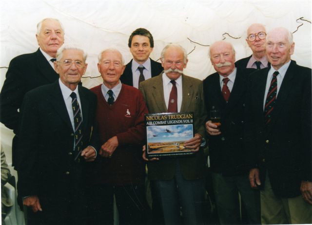 Nicolas Trudgian with Coastal Command veterans