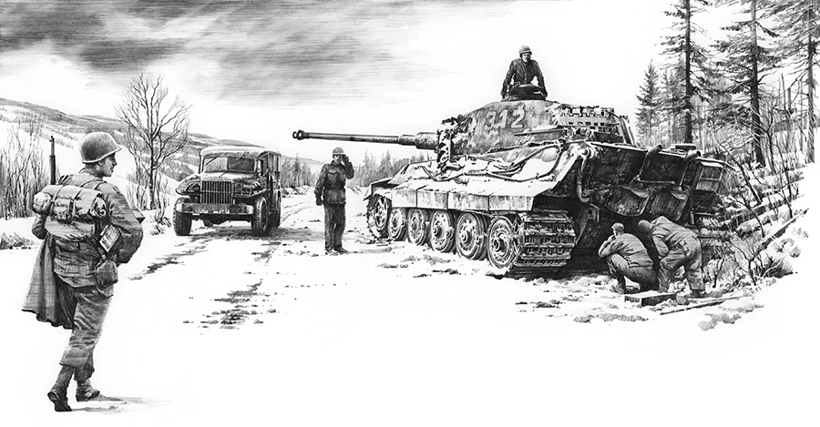 The Dangerous Road to Bastogne by Nicolas Trudgian