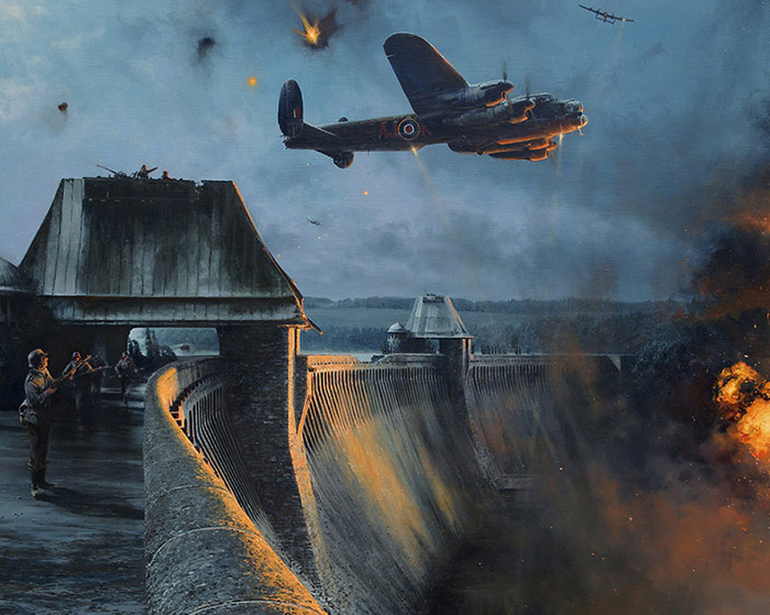 The Dambusters - Last Moments of the Möhne Dam by Robert Taylor